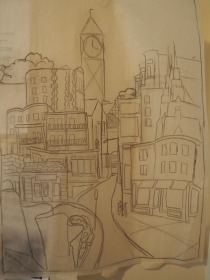 Sketch for panel 1