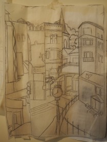 Sketch for panel 2